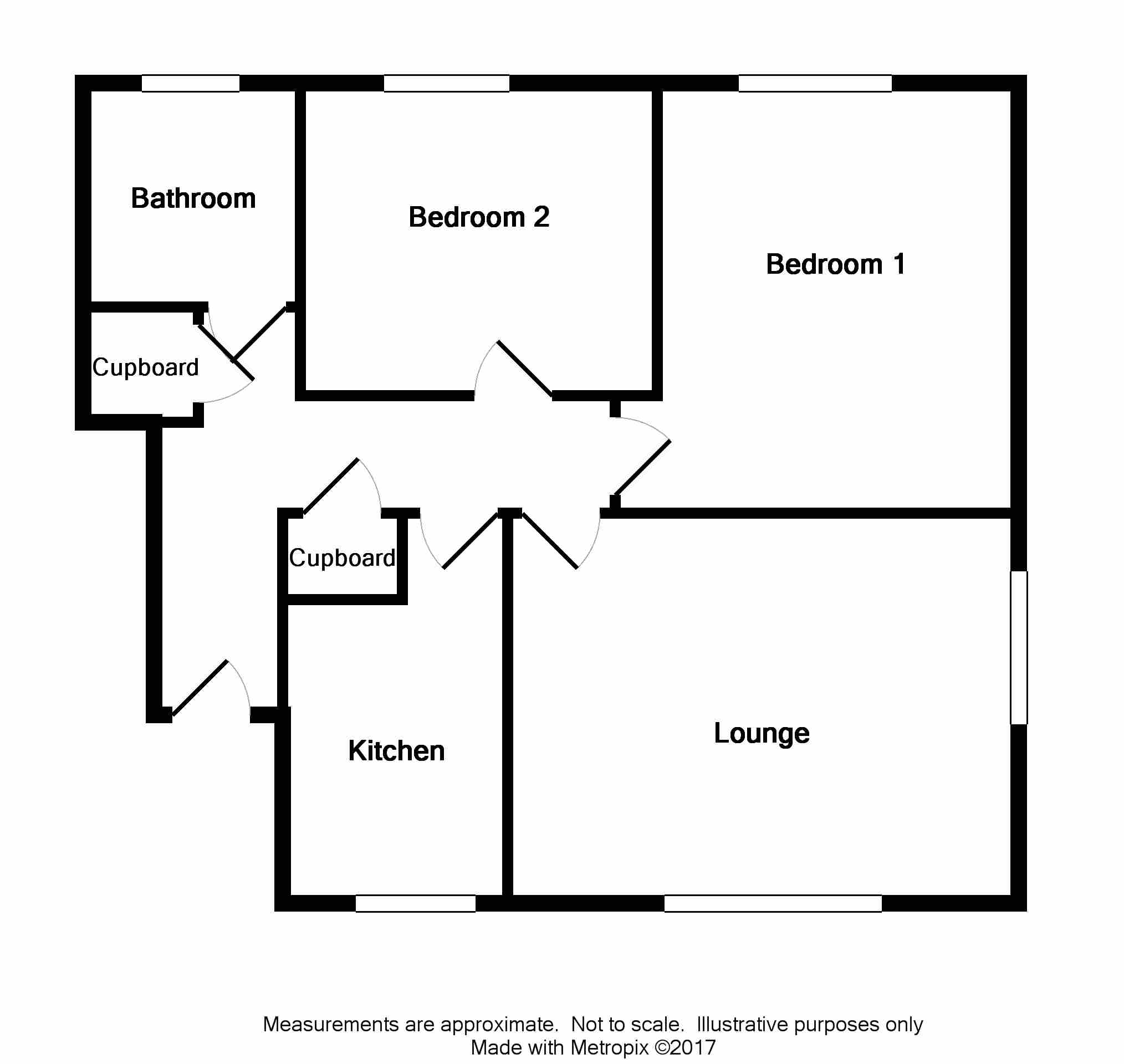 Floor Plan for 1B Old Station Court