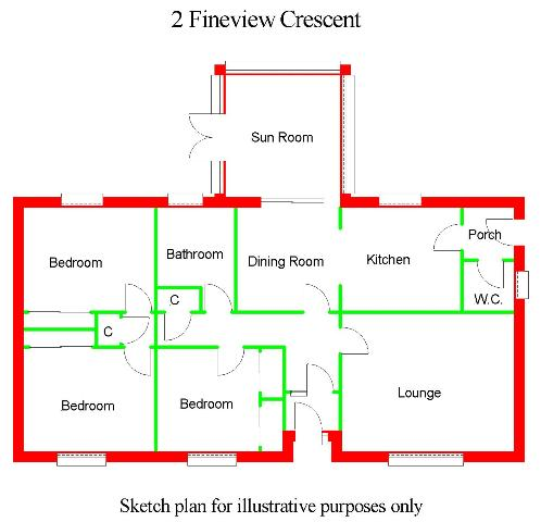 Floor Plan for Whinbank, 2 Fineview Crescent