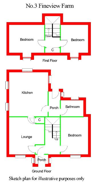 Floor Plan for 3 Fineview Farm