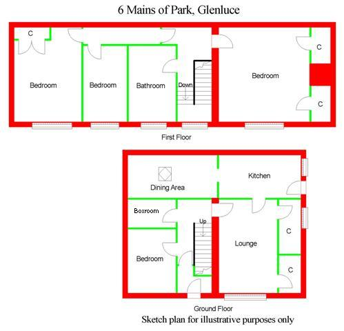 Floor Plan for No6 Mains of Park