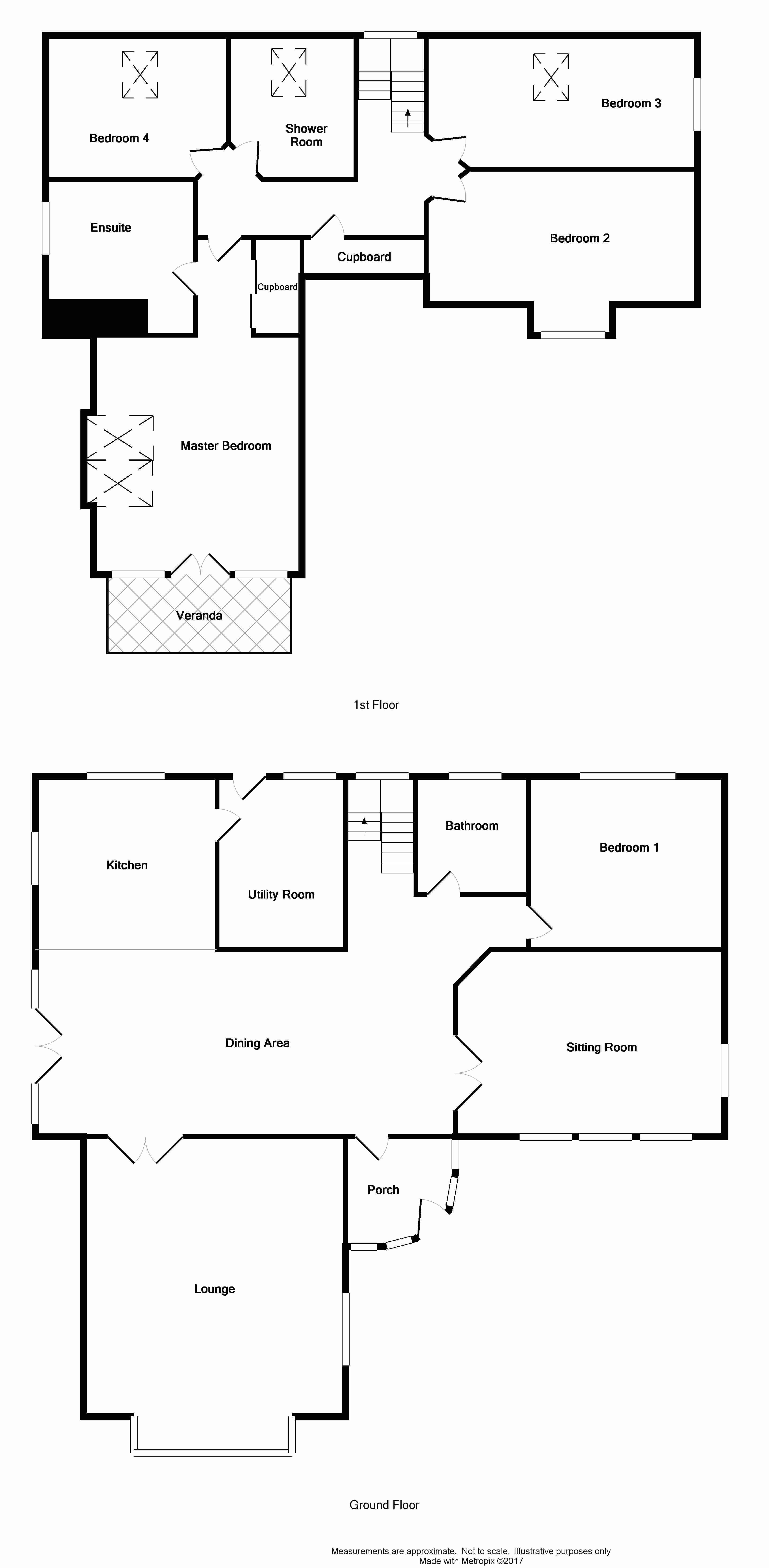 Floor Plan for 'South Knockglass Croft'