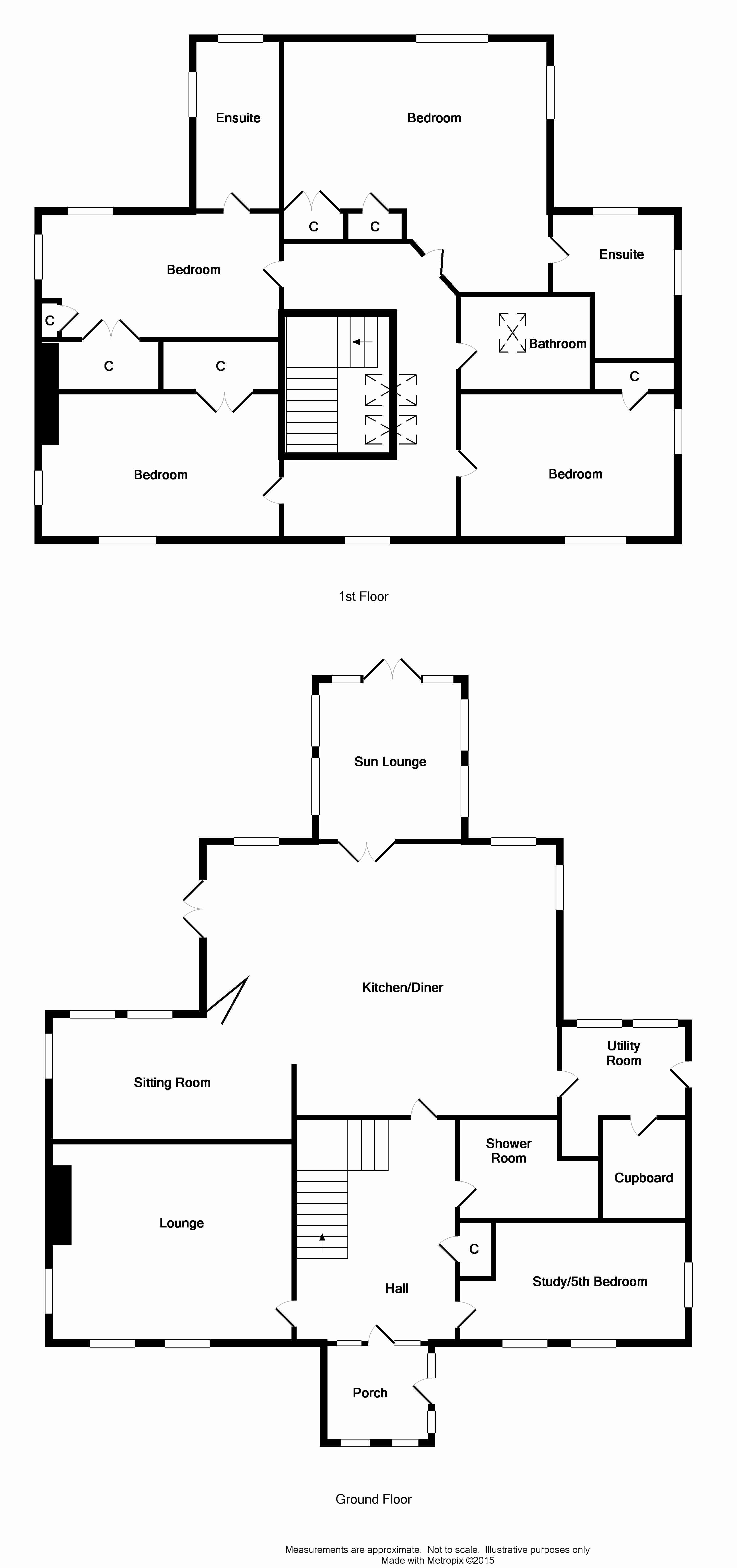 Floor Plan for 'Newolm Cottage'