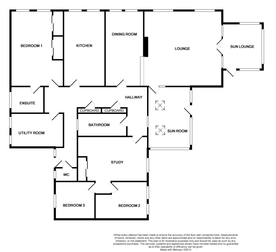 Floor Plan for 'Wood Cottage'
